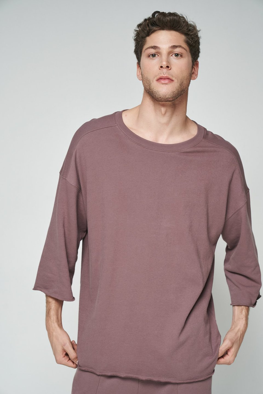 100% Organic Oversized Half Sleeve Sweatshirt