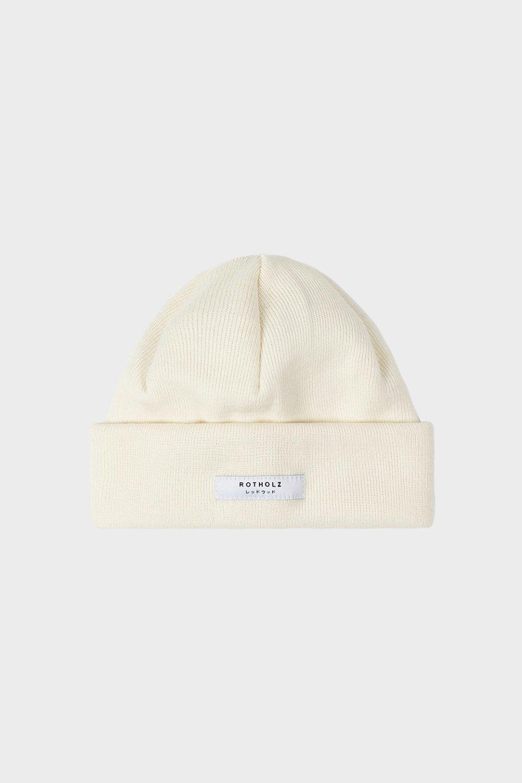 Label Mütze Baumwolle Fein Weiß