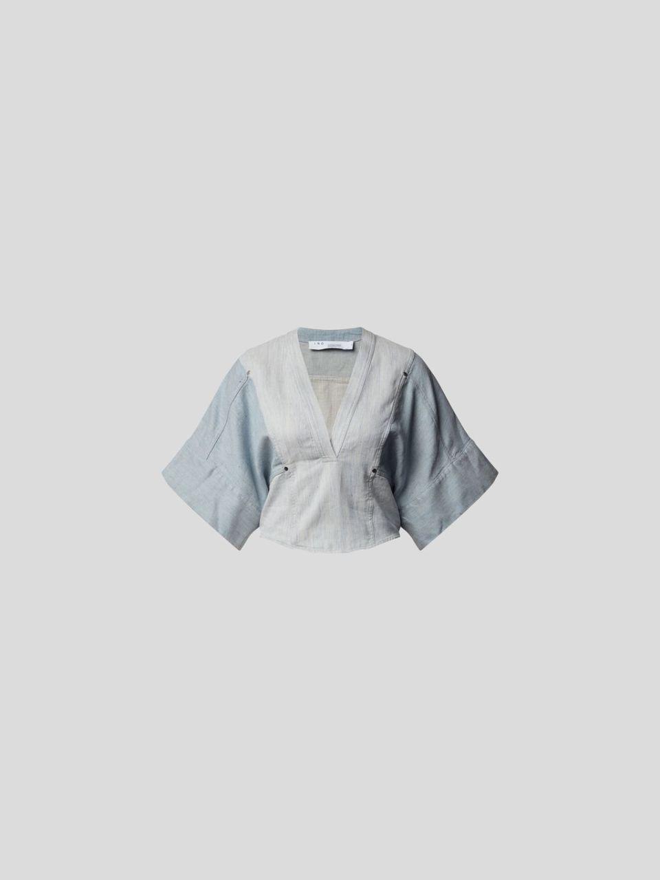 T-Shirt mit Denim-Finish