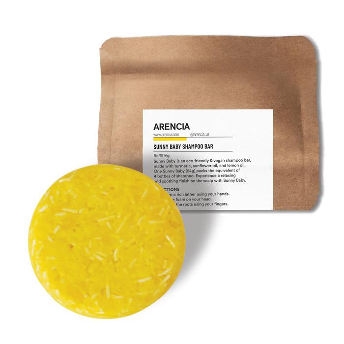 SUNNY BABY SHAMPOO BAR    Handgefertigte Haarseife mit Kurkuma, Aprikosenöl & Zitronenöl (Aufbau & Beruhigung für sensible Kopfhaut)