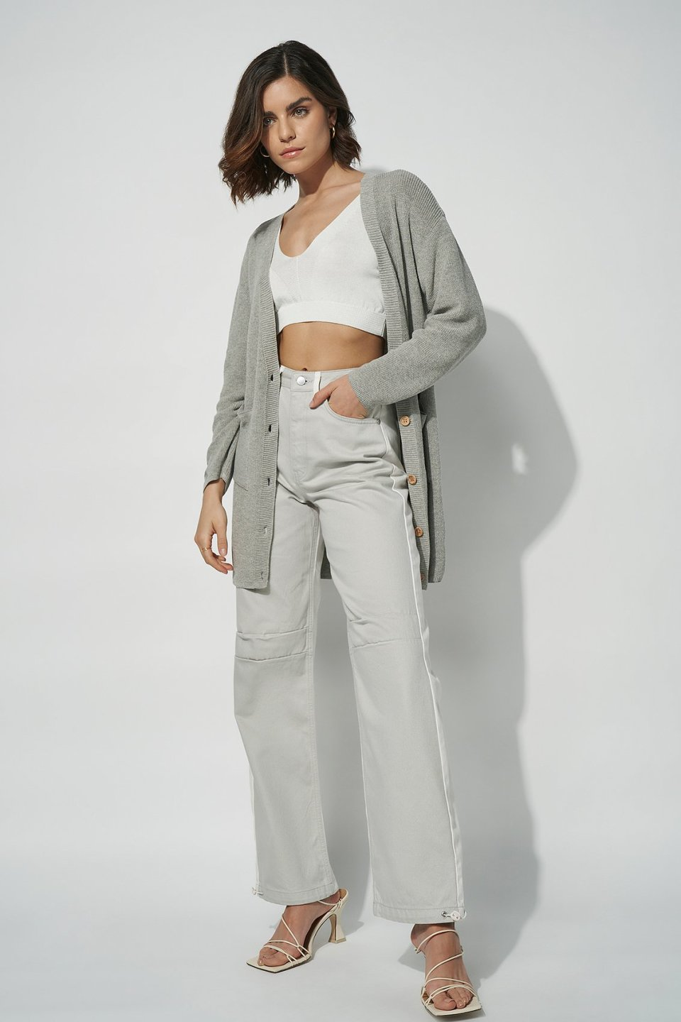100% Recycled Oversized Button Up Cardigan