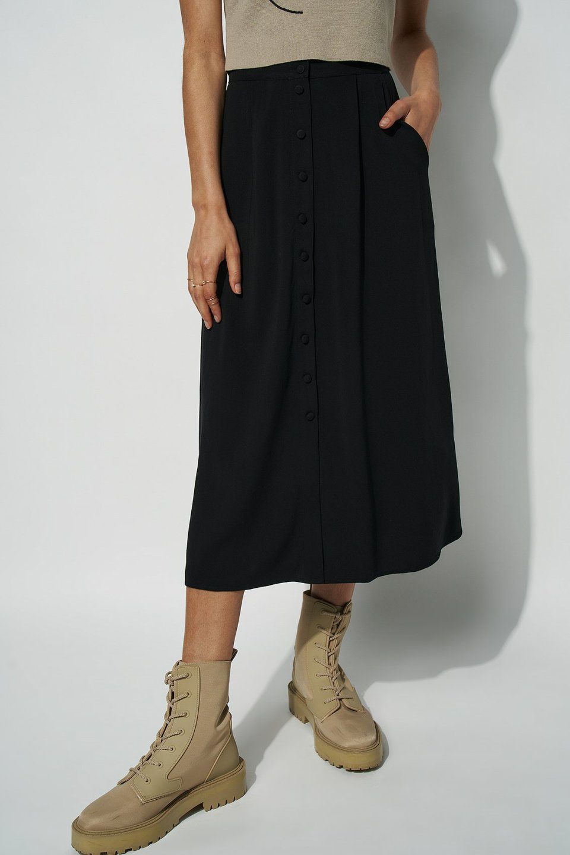 Button Up Midi Skirt