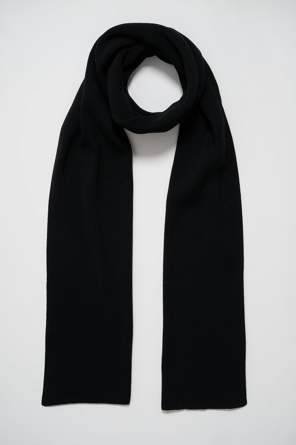 100% Upcycled Blend Ribbed Scarf
