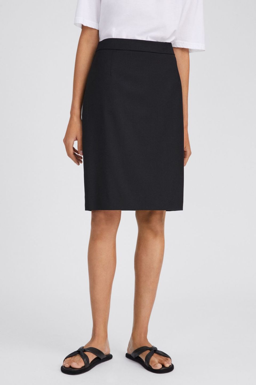 Cool Wool Pencil Skirt