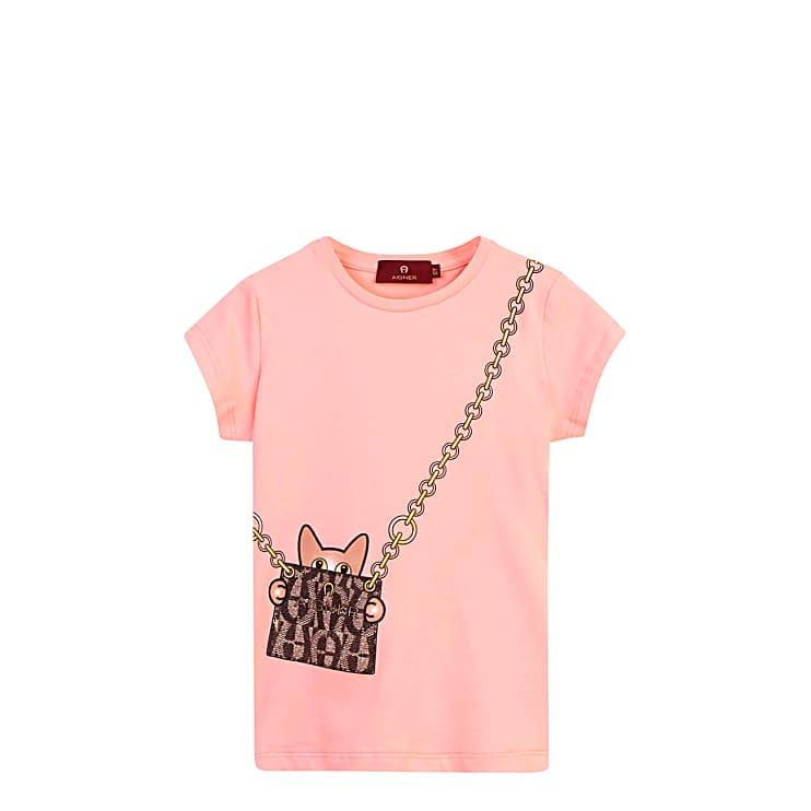 Aigner Damen Mädchen T-Shirt, Baumwollmix in Pink