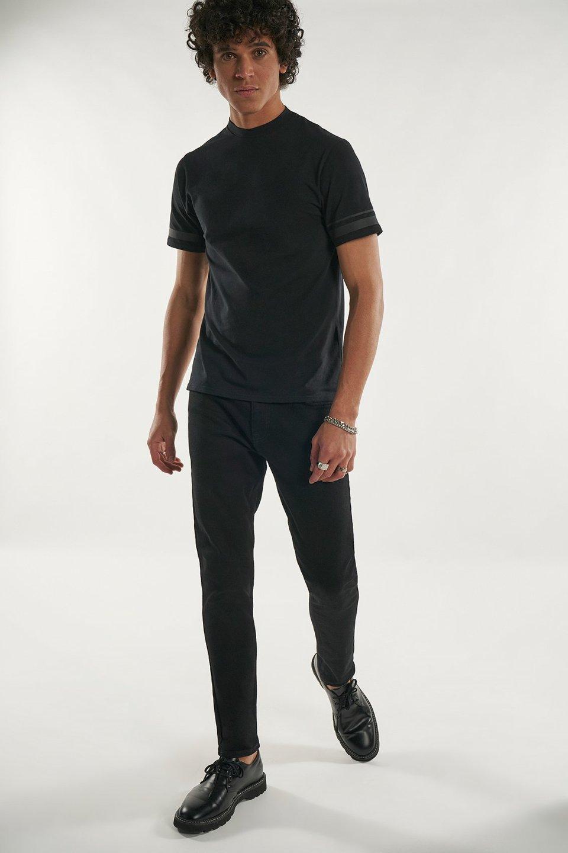 Bonded Tape Detail Slim Fit T-shirt