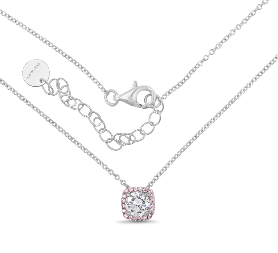 Necklace LEANDRA - pink