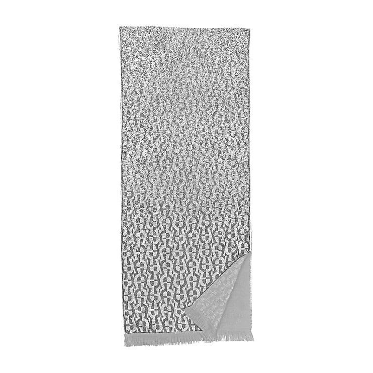 Aigner Unisex Logo Wollschal M, Wolle in Slate Grey