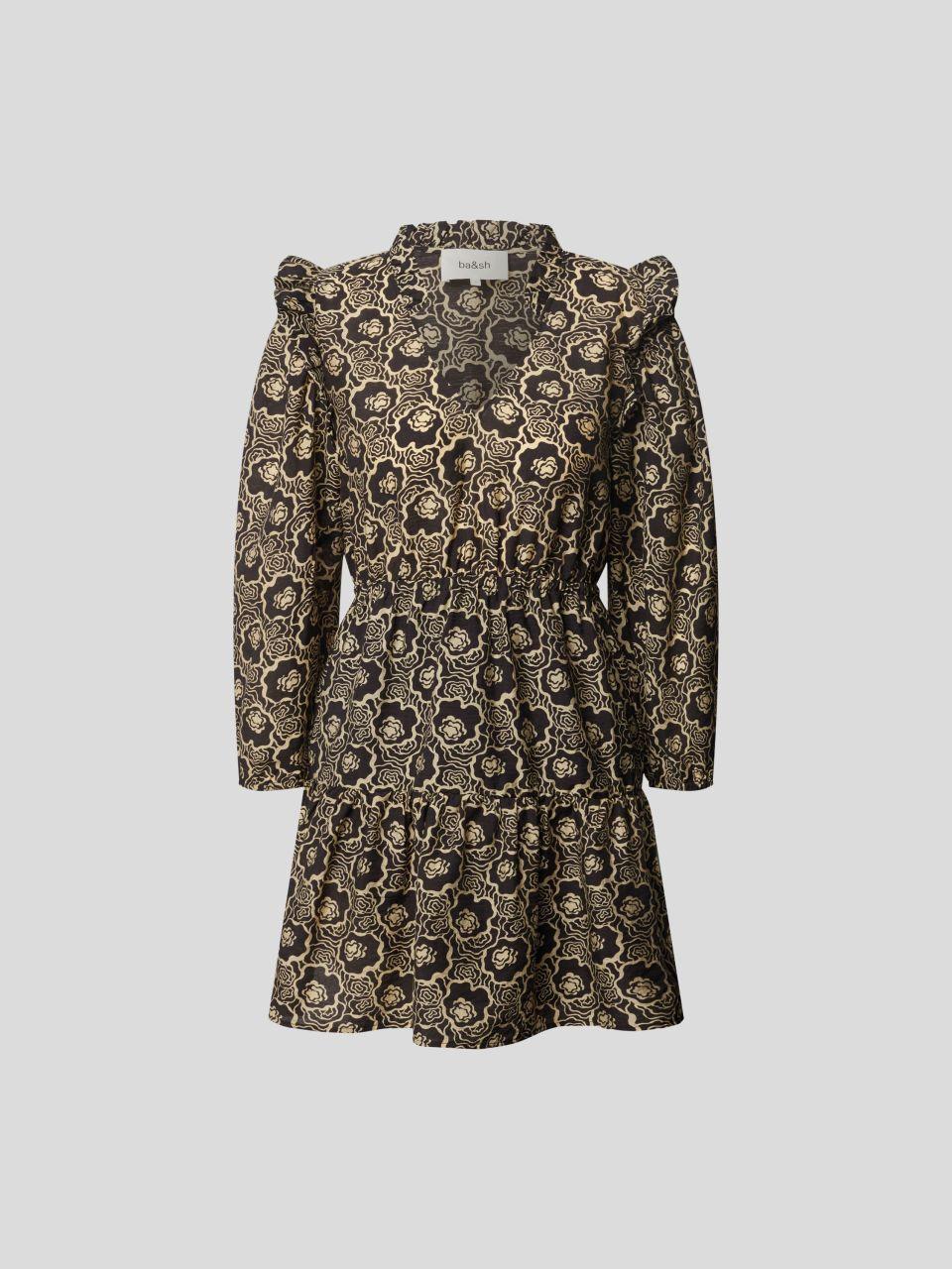 Minikleid mit Allover-Muster