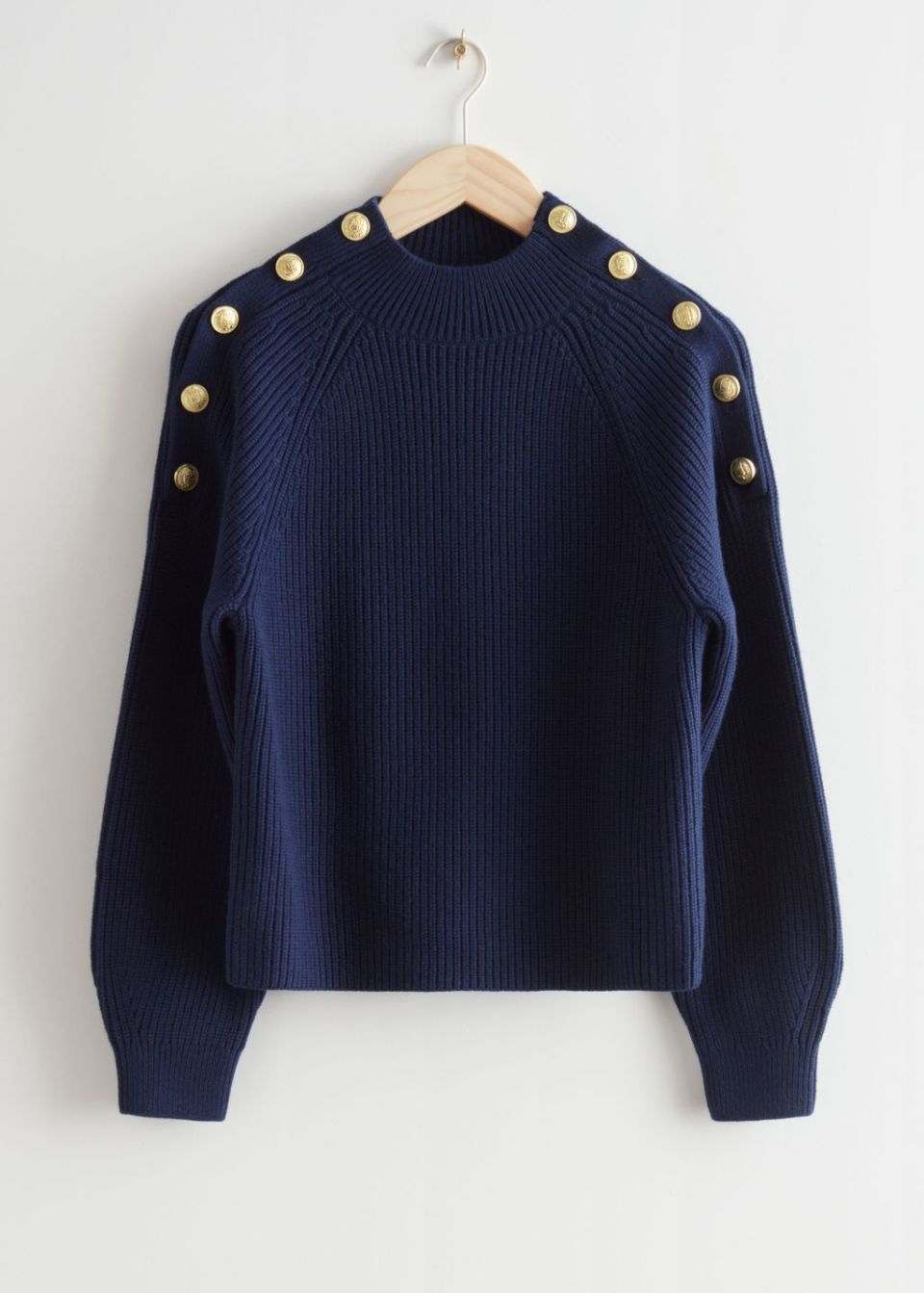 Gold Button Knit Sweater