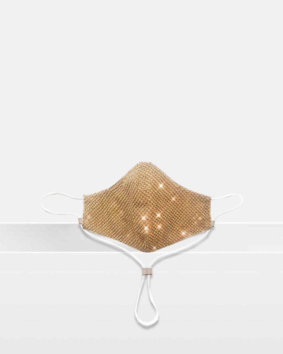 Fashion Mask - Gold Crystal