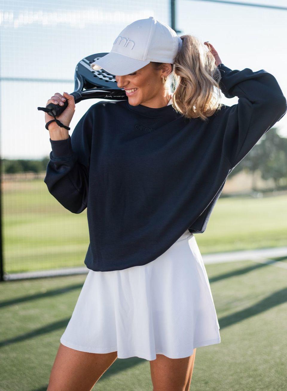White Luxe Tennis Skirt