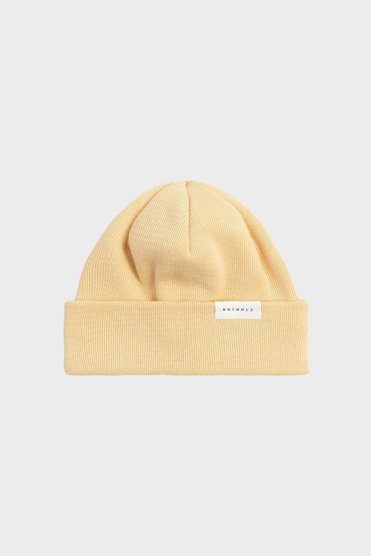 Kurze Mütze Baumwolle Fein Beige