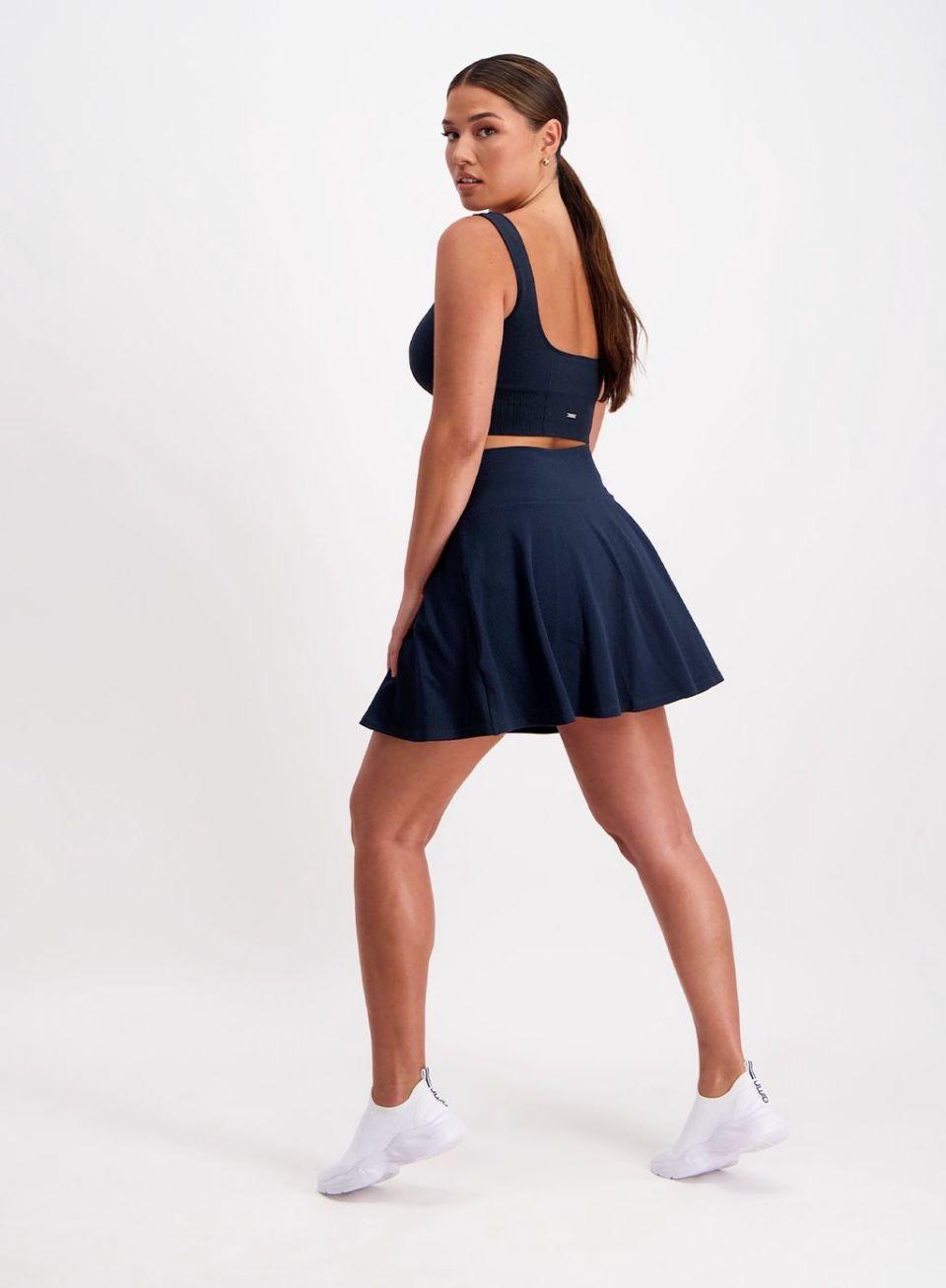 Navy Luxe Tennis Skirt