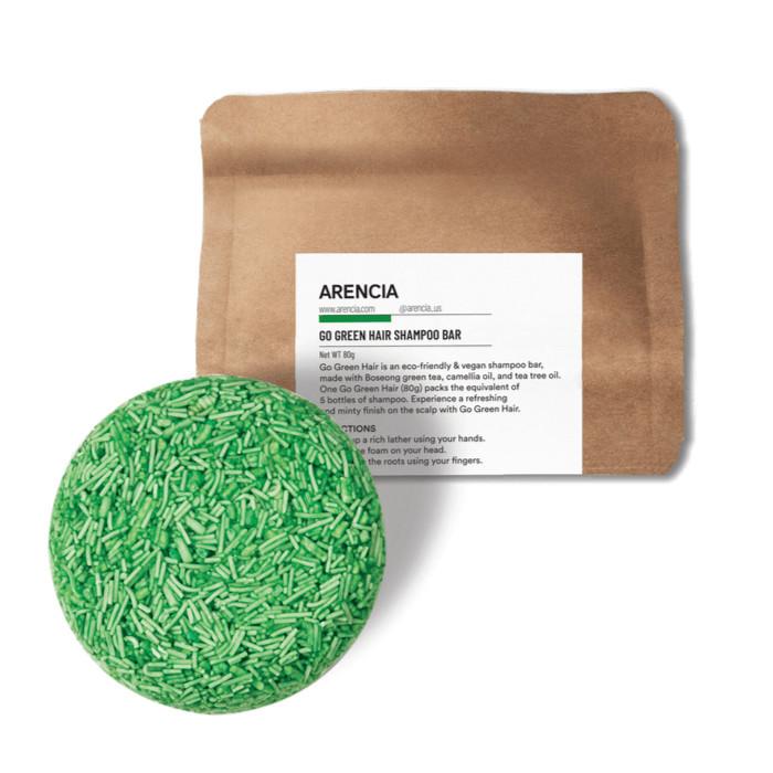GO GREEN SHAMPOO BAR    Handgefertigte Haarseife mit Boseong Tee, Kamelienöl & Teebaumöl (Detox & Tiefenreinigung)