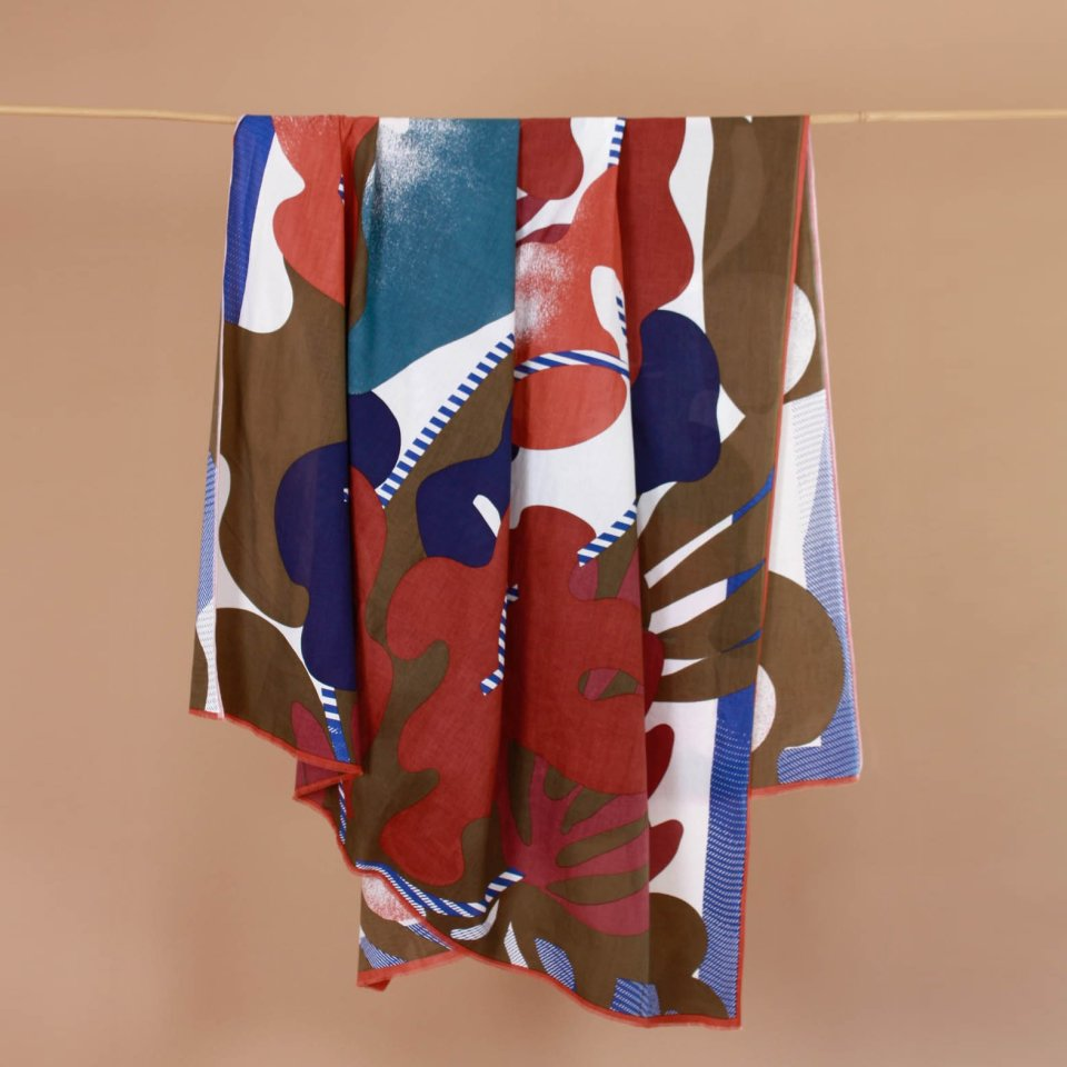 """LARGE SUMMER SCARF """"earth shades"""""""