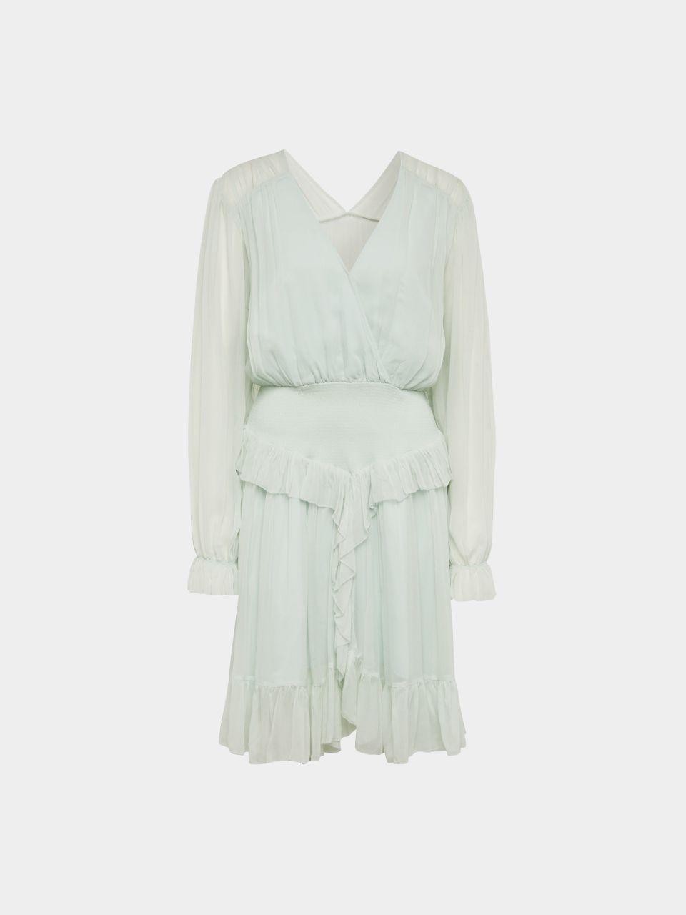 Kleid mit transparentem Rücken