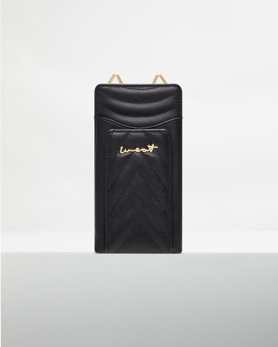 Phone Wallet Black Gold