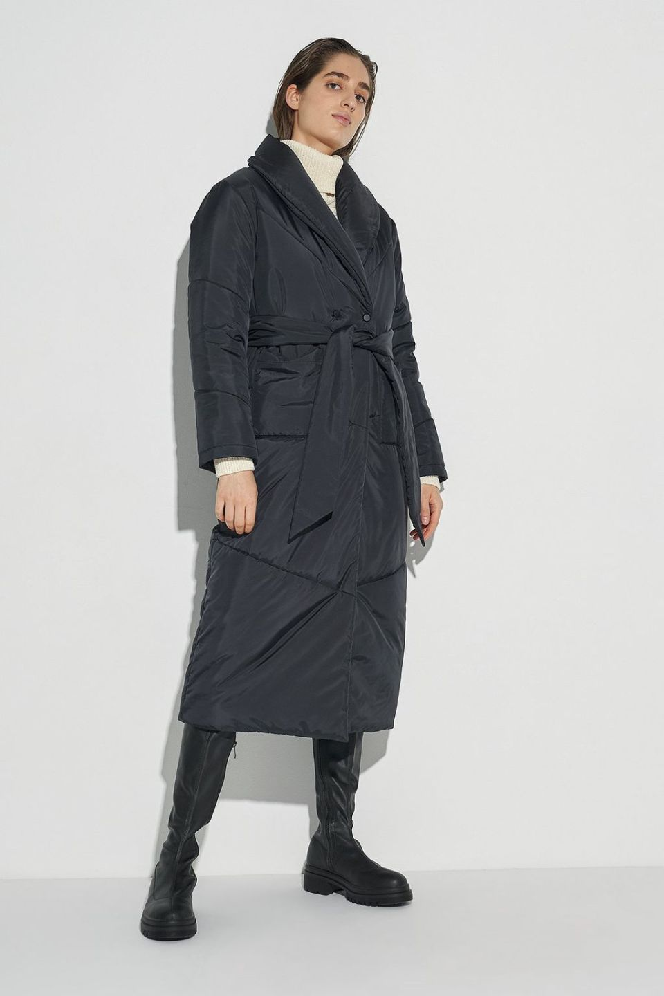 100% Recycled Puffer Dressing Robe