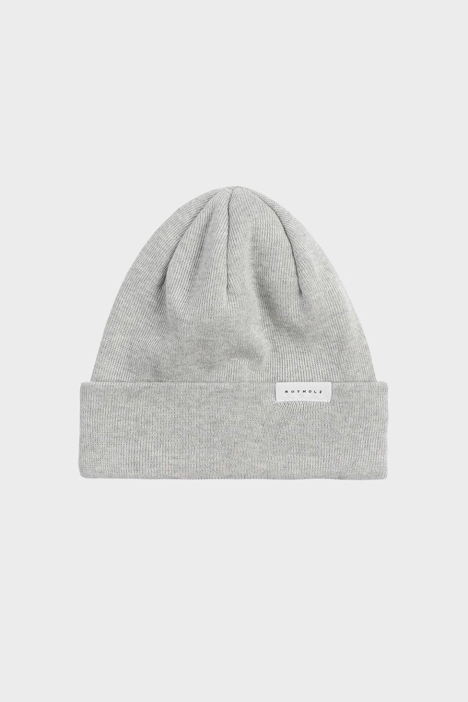 Klassische Mütze Baumwolle Fein Grau