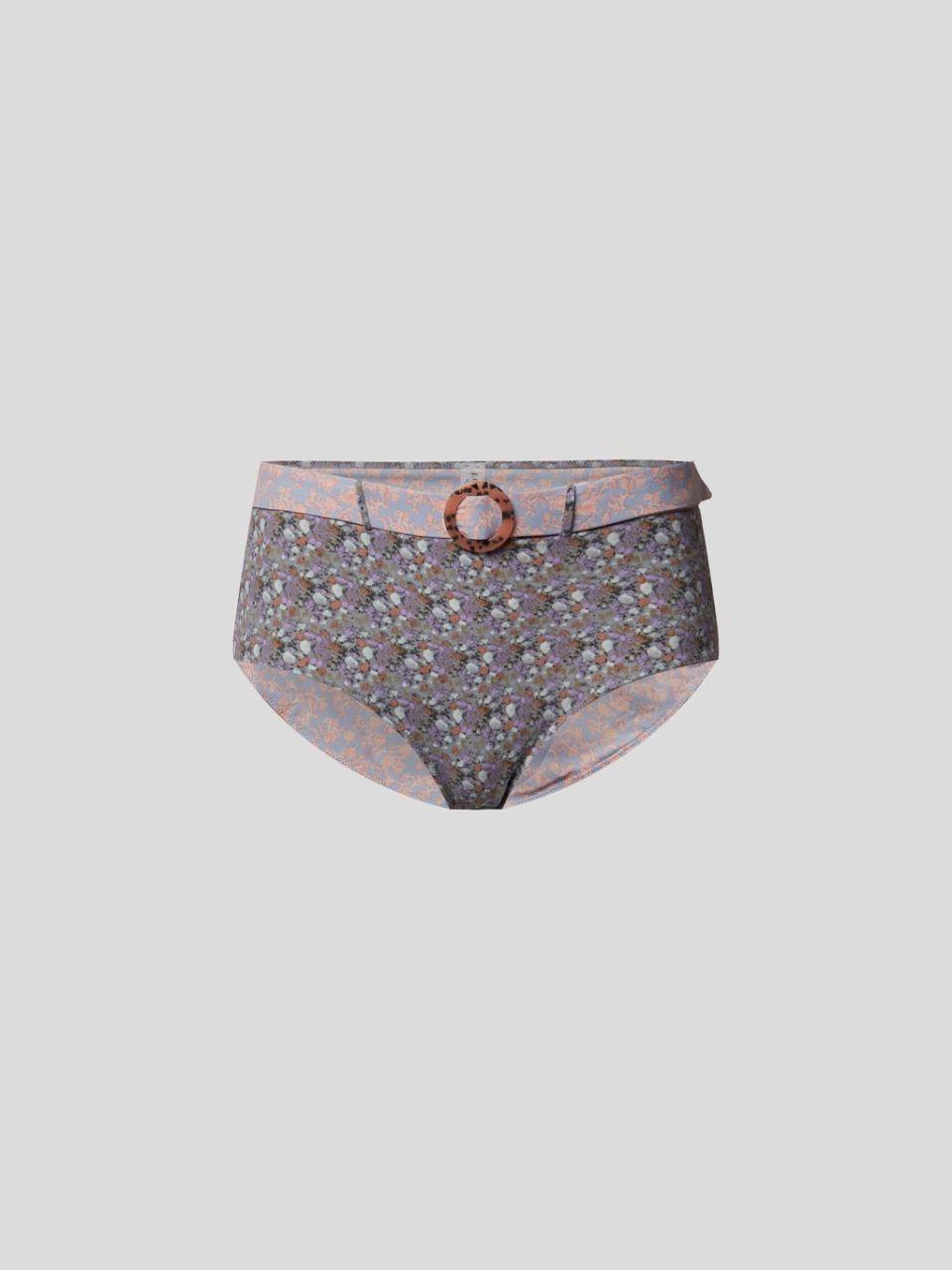 Bikini-Hose mit Allover-Muster