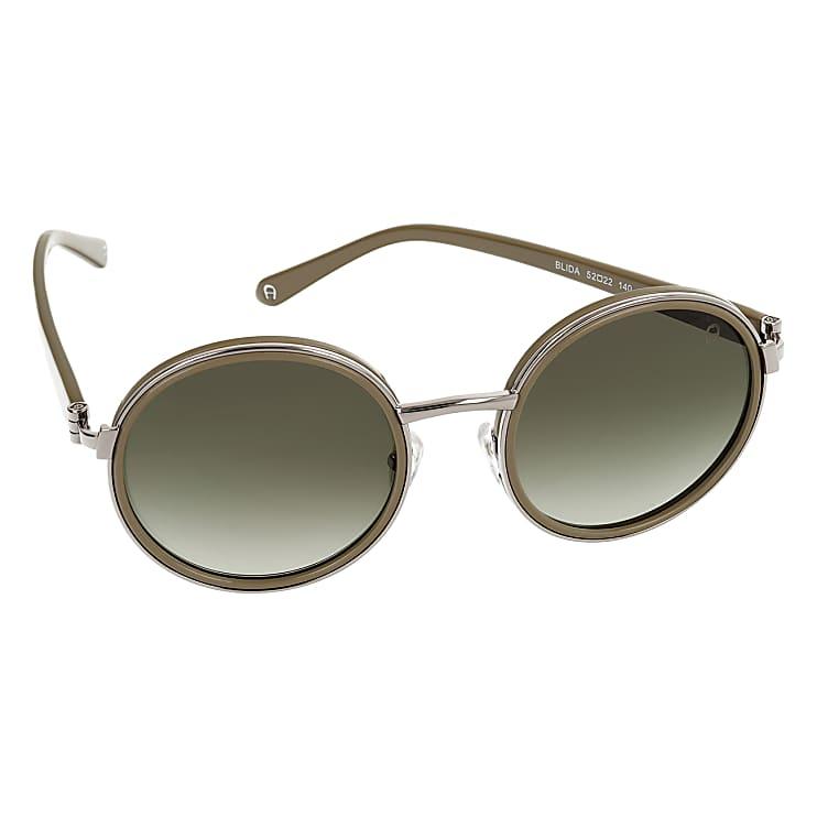 Aigner Damen Blida Sonnenbrille runde Gläser, in Grün