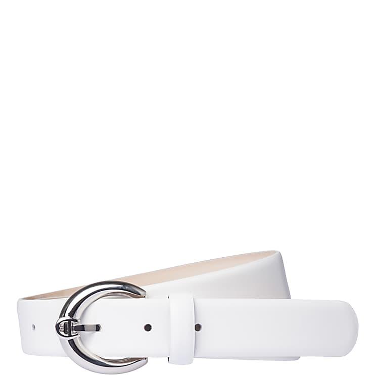 Aigner Damen FASHION GÜRTEL 3 cm, Glattleder in Weiß