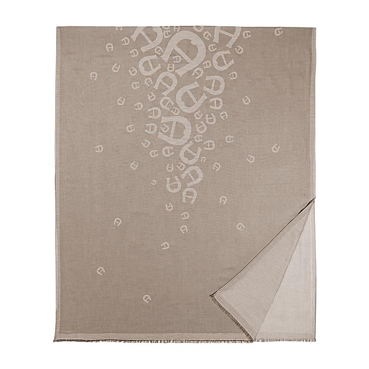 Aigner Damen SCHAL M, Baumwollmischung in Grau
