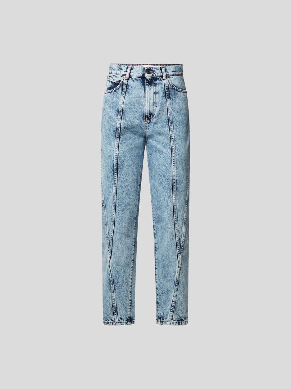 Mom Fit Jeans mit Ziernähten