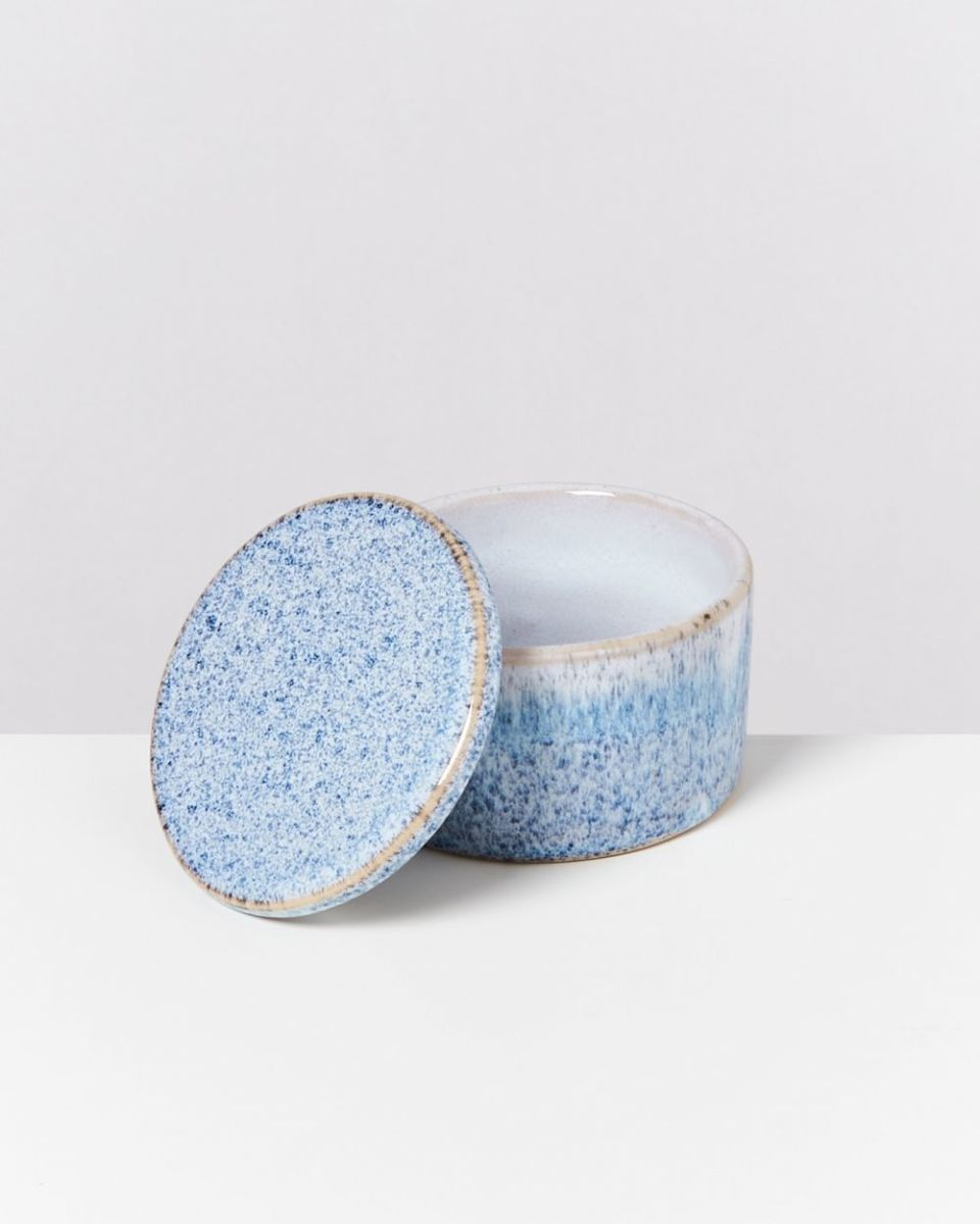 CORDOAMA – Bowl with lid blue speckled