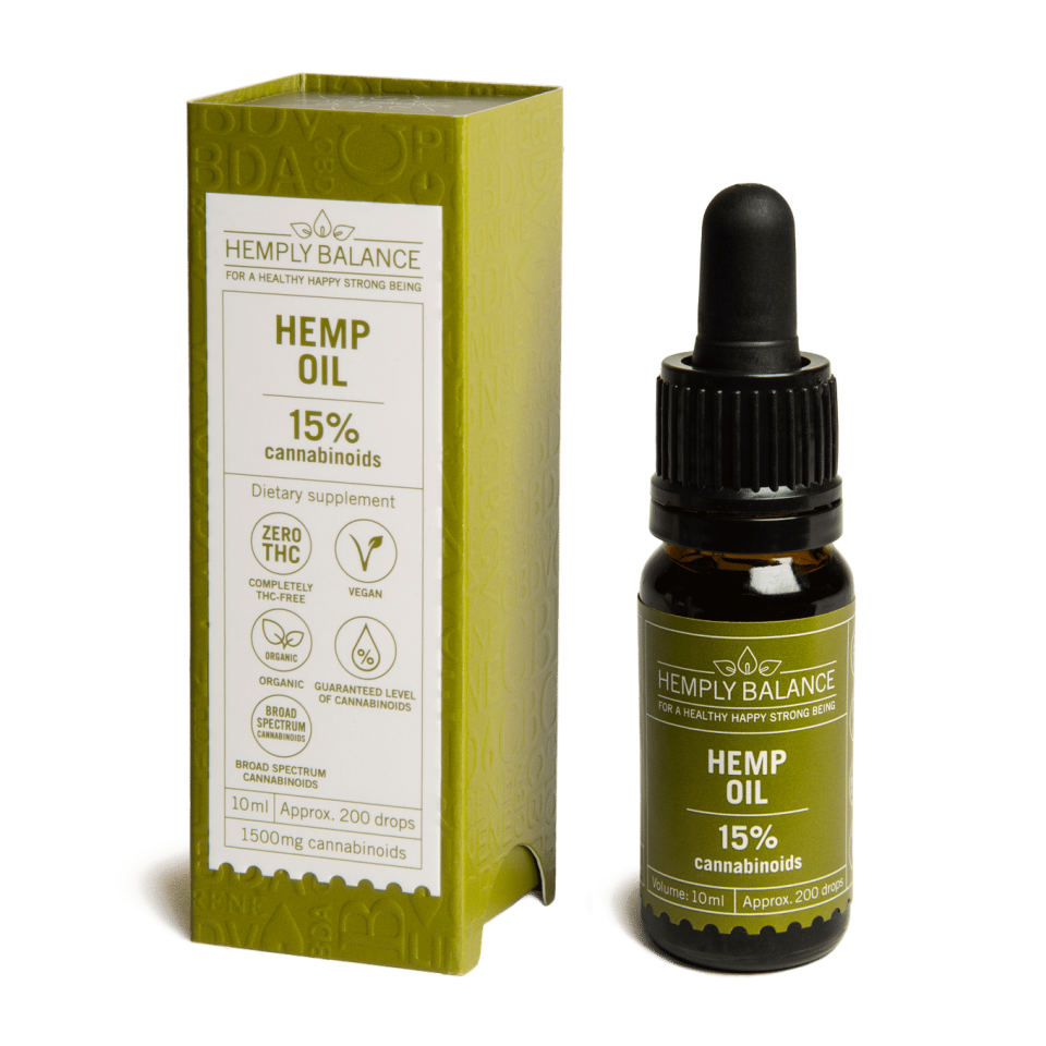 Hemply Balance - CBD Hemp Oil 15% 1,500mg cannabinoids