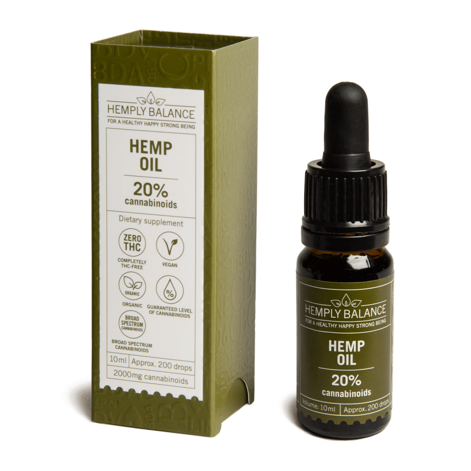 Hemply Balance - CBD Hemp Oil 20% 2,000mg cannabinoids
