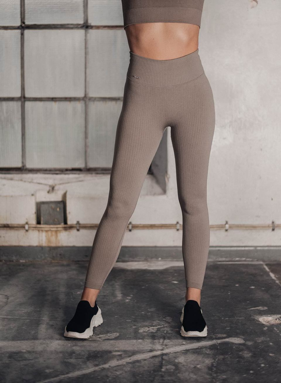 Espresso Ribbed Seamless Tights