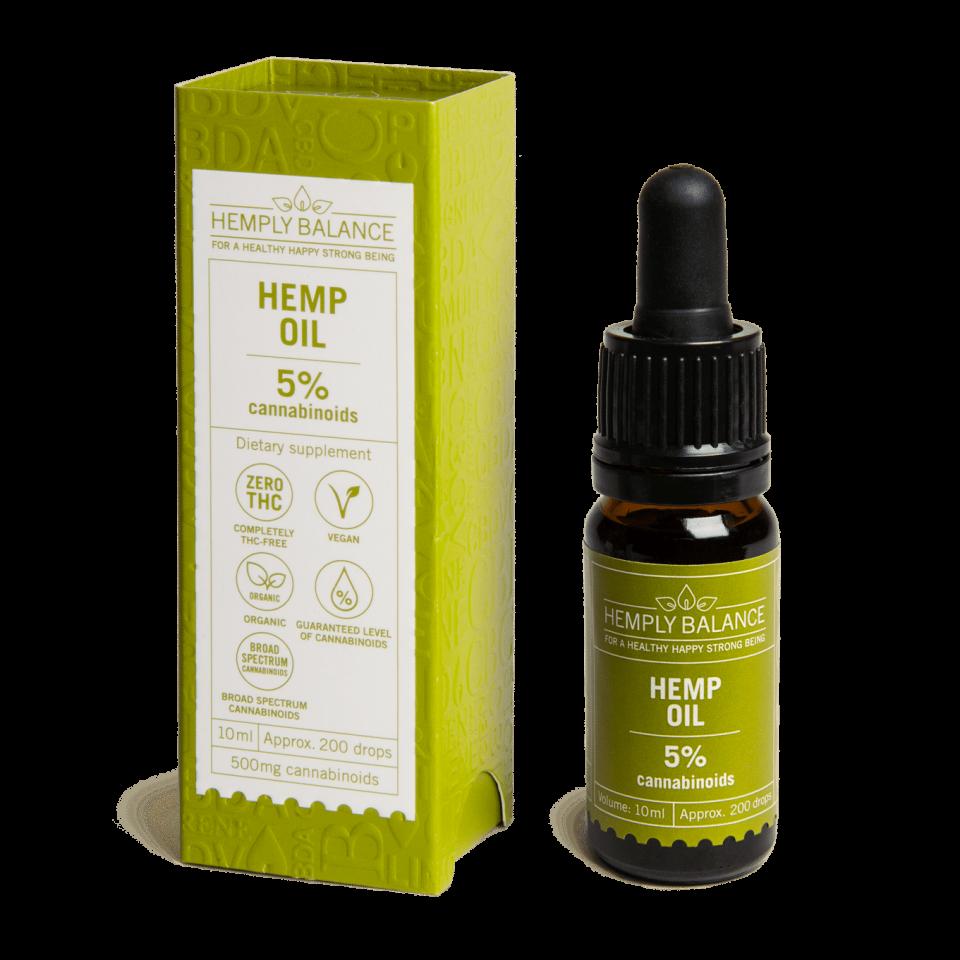 Hemply Balance - CBD Hemp Oil 5% 500mg cannabinoids