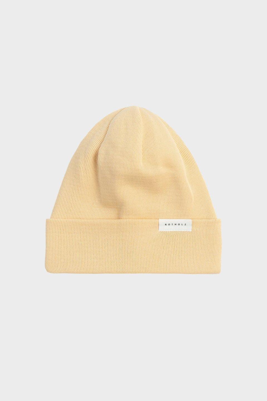 Klassische Mütze Baumwolle Fein Beige