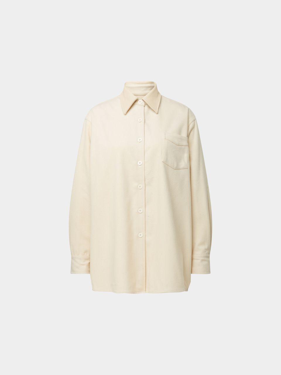 Bluse aus Wolle