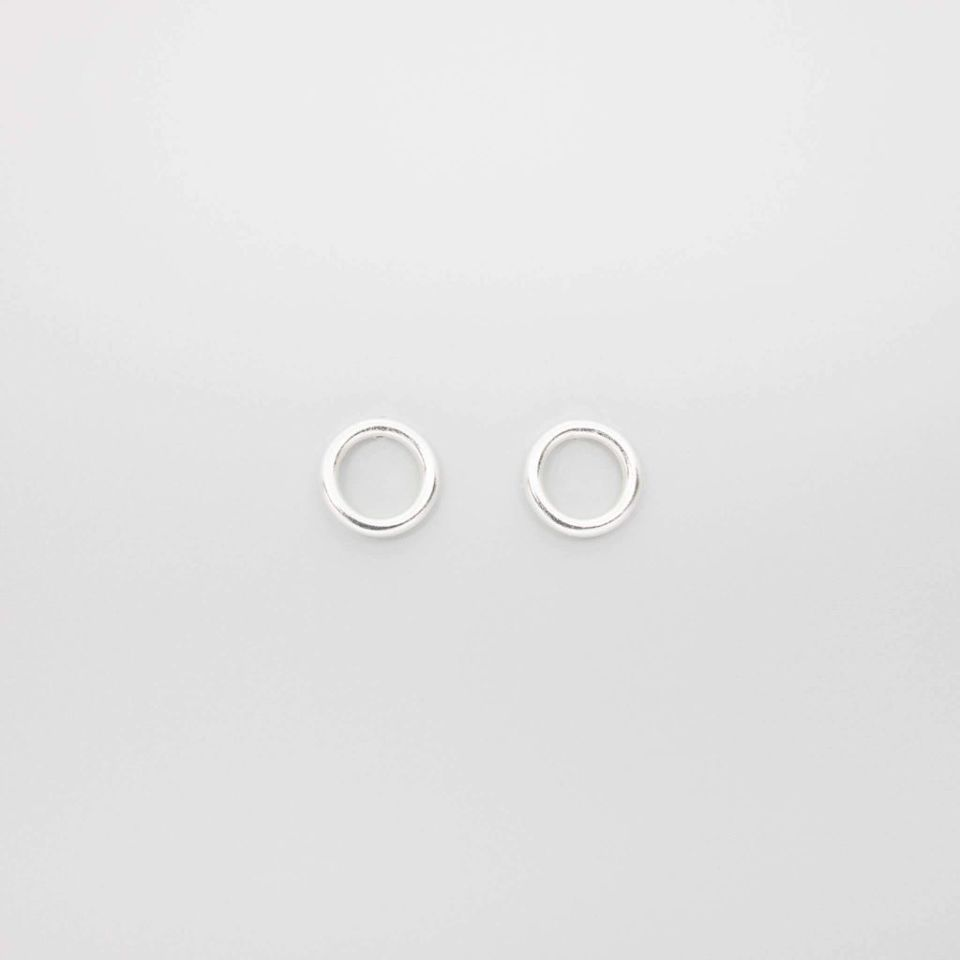 shiny circle studs