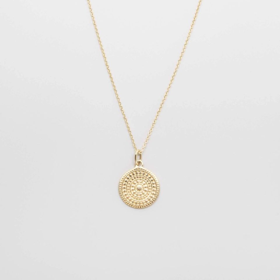 ornament necklace   solid gold