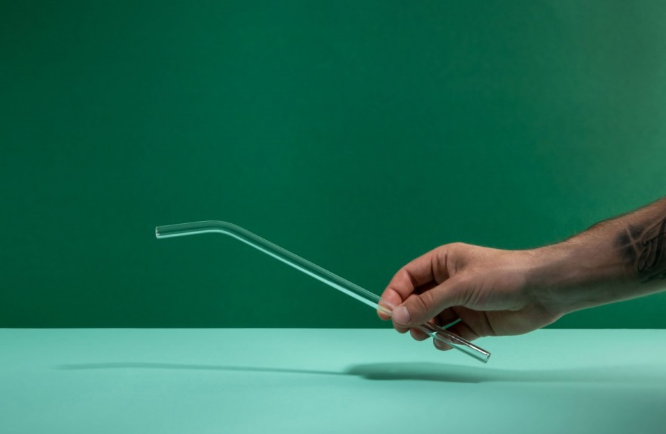 soulstraw Glashalm gebogen, transparent