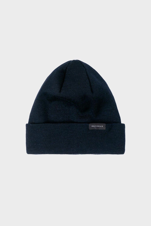 Klassische Mütze Merino Fein Blau