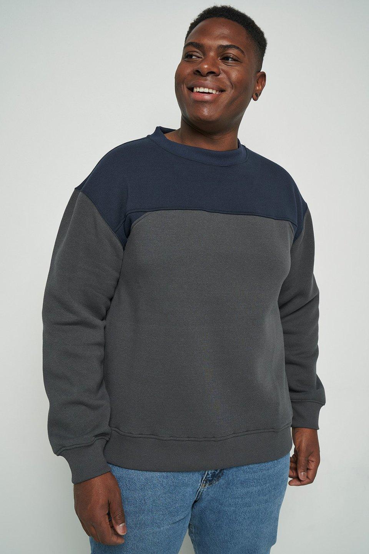100% Recycled Colour Block Sweatshirt
