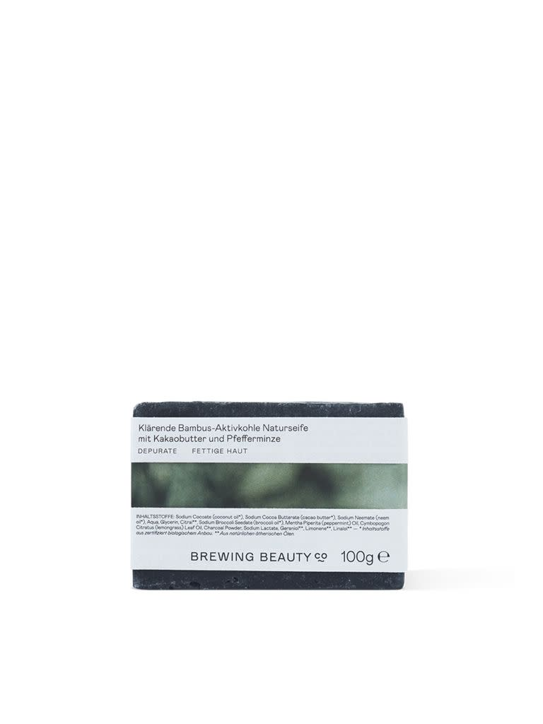 Purifying Bamboo Charcoal Artisanal Soap with Cacao Butter and Peppermint