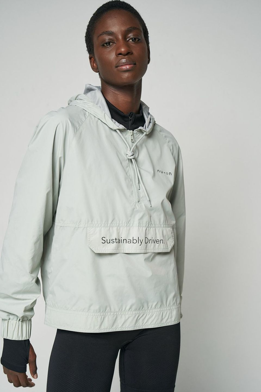 Sustainably Driven Half Zip Windbreaker Jacket