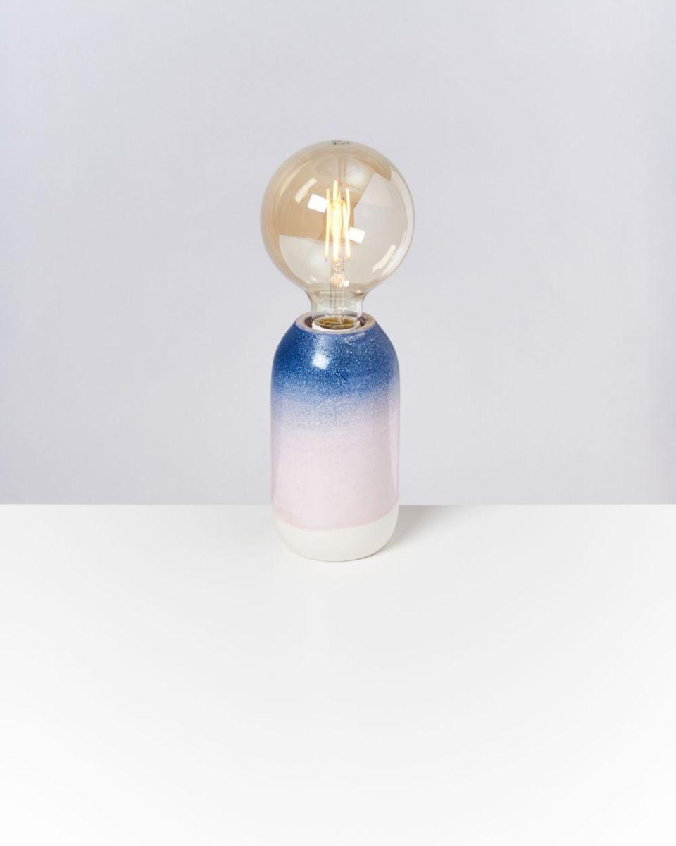 FAROL - Lamp blue rose speckled