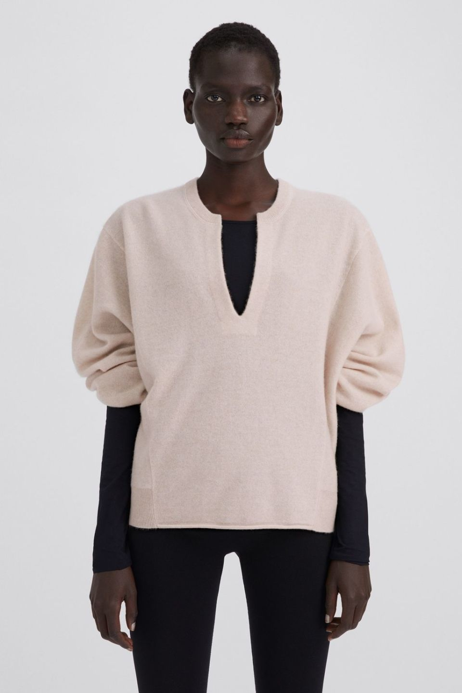 Cashmere Split Sweater
