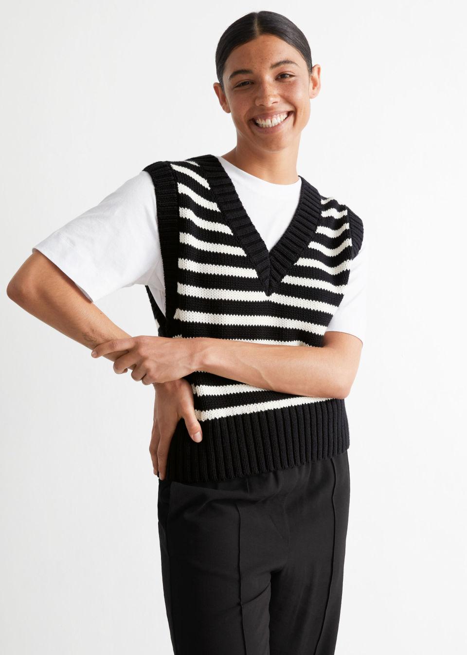 Striped Oversized Vest