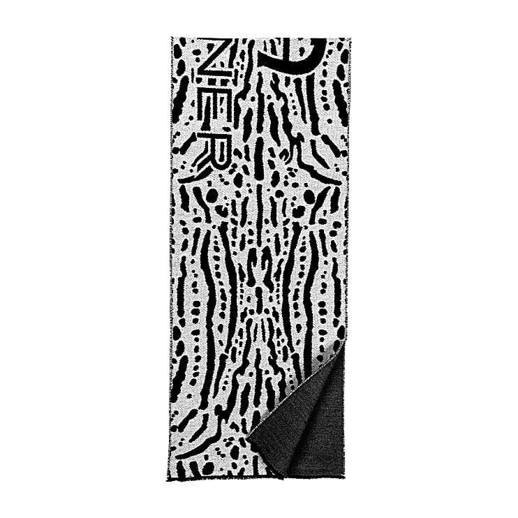 Aigner Damen Fashion Schal M, Wolle in Schwarz