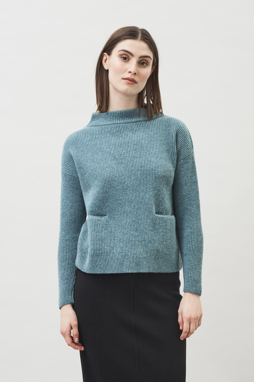 Helga Pocket Sweater - Mineral Green