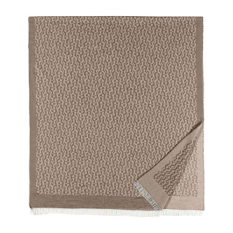 Aigner Unisex SCHAL M, Baumwollmischung in Grau