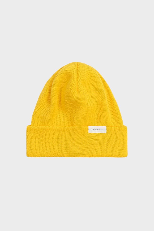 Klassische Mütze Baumwolle Fein Gelb